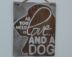 Placa Love Dog