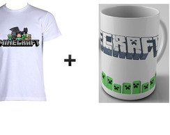 kit 1 camiseta + 1 caneca minecraft 03