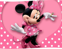 Painel Banner Minnie Rosa 2,45x 1,50