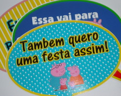 Placa divertida Peppa Pig