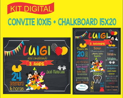 Kit Digital - Convite e Chalkboard