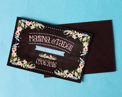 Ímã Save the Date - Chalkboard