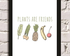 Poster com Moldura Plants are Friends
