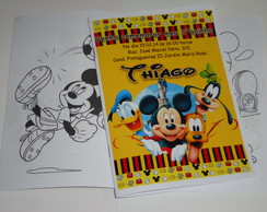 REVISTINHA DE COLORIR 15x21 cm TURMA DO MICKEY