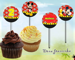Toppers Cupcake Mickey