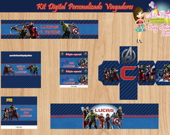 Kit Digital Personalizado Vingadores