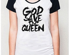 BABY LOOK RAGLAN - GOD SAVE THE QUEEN