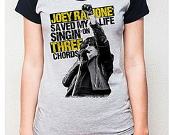 BABY LOOK RAGLAN - JOE RAMONES