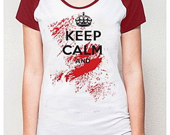 BABY LOOK RAGLAN - KEEP CALM AND .....