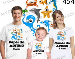 Camiseta Fundo do Mar Personalizada c/3