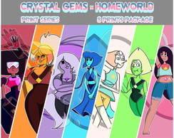 8 miniprints Crystal Gems x Homeword
