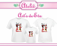 Kit Camiseta Minie Mouse