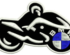 Patch Tag Bordado Bmw Moto 10x6,5 Termoc