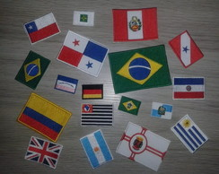 Patch Tag Bordado Mini Bandeiras Todos E