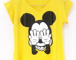 Blusa Baby Look Mickey