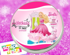 Latinha Personalizada Festa Barbie Paris