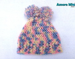 Touca Colorida Pompons - Newborn