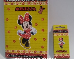 KIT REVISTINHA + GIZ DE CERA MINNIE