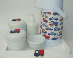 Kit Higiene Porcelana Carros