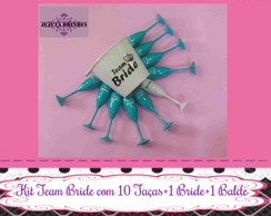 Kit Balde de gelo 10 Taças Team +1 Bride