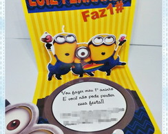 Convite Pop Up - Minions