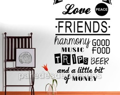 Adesivo Decorativo Frase Love Friends