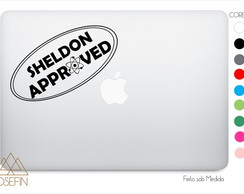 Adesivo Macbook Sheldon Approved A0021