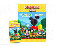 Kit Colorir - Casa do Mickey Mouse