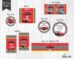 Kit Festa Digital Carros Disney