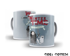 Caneca Jon Snow e Fantasma Winter Time