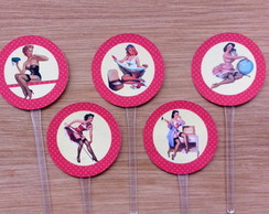 Toppers Vermelhos - Pin up
