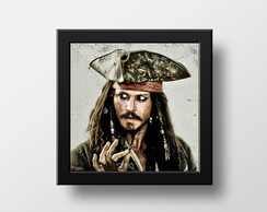Quadro Decorativo Jack Sparrow Frase Elo7