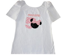 Blusa Minnie Rosa Adulto
