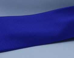 Gravata Azul Royal Semi Slim Quadriculad