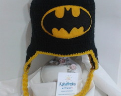 Touca de Croche Infantil Batman