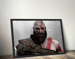Quadro Kratos God of War Deus da Guerra