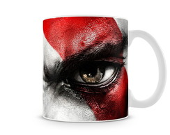 Caneca God of War Kratos Eyes