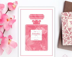 Poster A4 Chanel Pink Floral P031