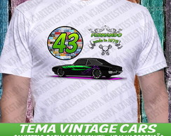 1 Camisa Vintage Carros made in Seu Nome