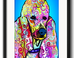 Quadro Poodle Pop Art com Paspatur