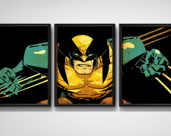 3 Quadros Wolverine X-Men Comics