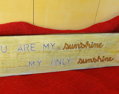Placa Decorativa Sunshine