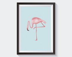 Quadro Flamingo Lovely