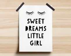 Poster Sweet Dreams Little Girl