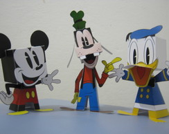 Kit Paper Toy 3D Turma do Mickey 3 pers.