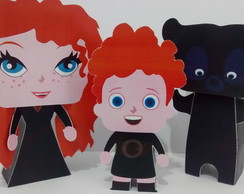 Kit Paper Toy 3D Valente Merida 3 pers.