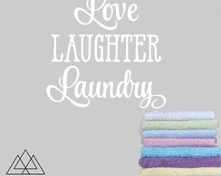 Adesivo Live Laughter Laundry A0104