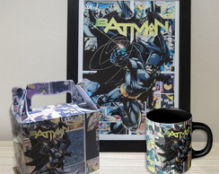 Kit Batman Comic Pôster + Caneca