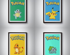 Quadro Poster Pokemon GO Kit 4