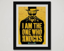 Quadro Breaking Bad Moldura Who Knocks